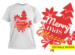 Believe Christmas Design Template