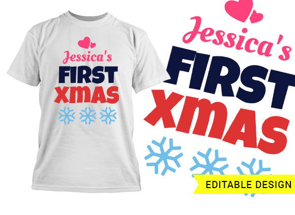 first xmas design template