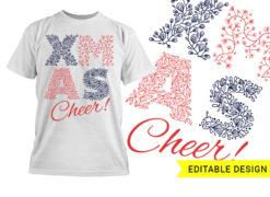 X-mas cheer editable design template