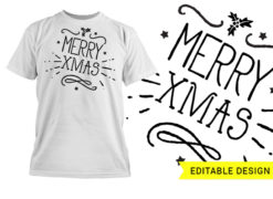 Merry Xmas graphic design template