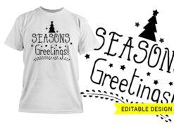 Season's Greetings editable design template