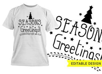Season's Greetings editable design template