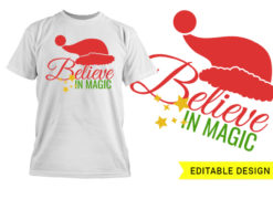 Believe in magic editable design template