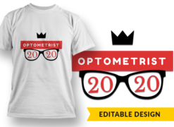 2020 Optometrist New Year 2 T-shirt designs and templates glasses