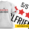 5-Star Husband T-shirt Designs and Templates LOVE