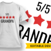 5-Star Boyfriend T-shirt Designs and Templates LOVE