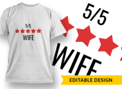 5-Star Wife T-shirt designs and templates LOVE