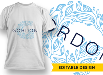 Ornate Letter G with Name Placeholder T-shirt Designs and Templates floral