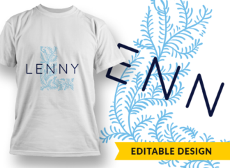Ornate Letter L with Name Placeholder T-shirt Designs and Templates floral