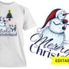 Mistletoe template with editable name T-shirt Designs and Templates bow