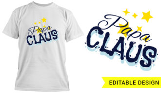 Full library Pricing Papa Claus t shirt design template 012