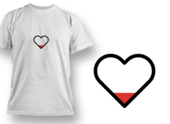 Empty Heart T-shirt designs and templates heart