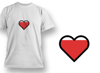 Filled Heart T-shirt Designs and Templates heart