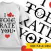 LOVE Monogram i tolerate you 1