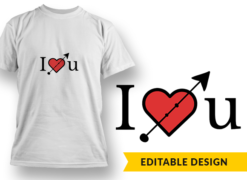 I Heart U T-shirt designs and templates heart