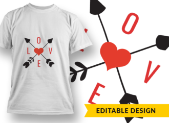 LOVE Monogram T-shirt Designs and Templates heart