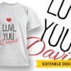 LOVE Monogram love you name 1