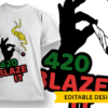 420 Pipe T-shirt Designs and Templates leaf