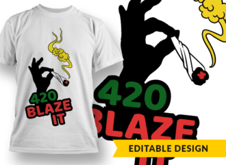 420 Blaze It T-shirt Designs and Templates leaf