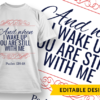 You are my hiding place and my shield Design Template and when i wake up preview