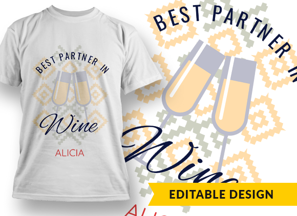 """""""Best partner in wine"""" and Name placeholder 1"""