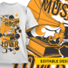 Drummer with attitude T-shirt Designs and Templates music
