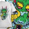 Geisha Smoking T-shirt Designs and Templates leaf