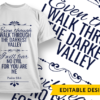 Be still and know that I am God Design Template even though i walk preview