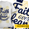 D20 Jesus saves Design Template faith over fear preview