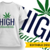 High Maintenance T-shirt Designs and Templates leaf