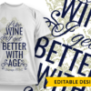 No 'pagne, no gagne T-shirt Designs and Templates leaf