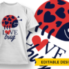 """""""Together"""" Owls T-shirt Designs and Templates funny"""