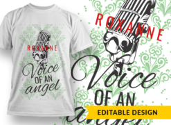 Name placeholder + Voice of an angel T-shirt designs and templates mic