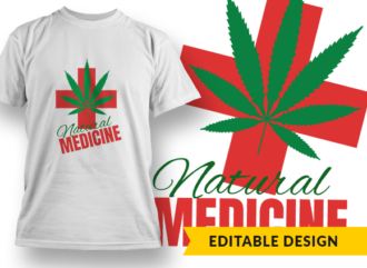 Natural Medicine Design Template T-shirt Designs and Templates leaf