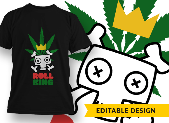 Roll King Design Template T-shirt Designs and Templates leaf