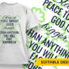 Our family is a circle of trust founded on faith joined in love kept by God Design Template T-shirt Designs and Templates religion