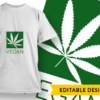 Yes I can Roll A Fatty Design Template vegan preview