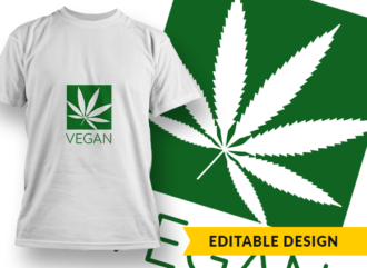 Vegan Design Template T-shirt Designs and Templates leaf