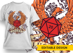 D20 Lucky T-shirt designs and templates funny
