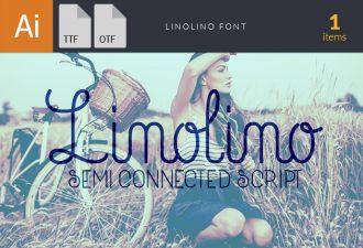 LinoLino Script Font Fonts Font, Otf, ttf