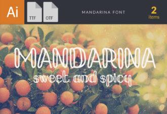 Mandarina Font Fonts Font, Otf, ttf