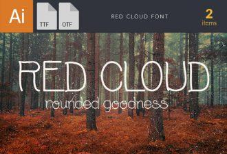 RedCloud Light Font Fonts Font, Otf, ttf