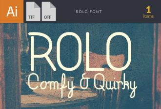 Rolo TT Font Fonts Font, Otf, ttf