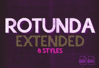 Rotunda Extended Free Font Freebies font