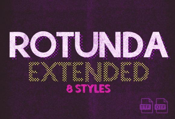 Rotunda Extended Free Font Rotunda Extended small