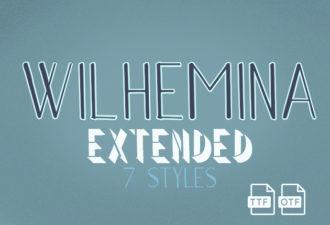 Wilhemina Extended Font Fonts Font, Otf, ttf
