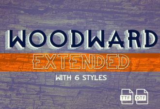 Woodward Extended Font Fonts Font, Otf, ttf