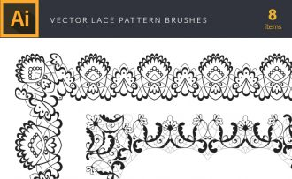 Lace Pattern Brushes Vector Pack Vector packs Lace,Pattern,Brushes,vector,clipart,element,illustration