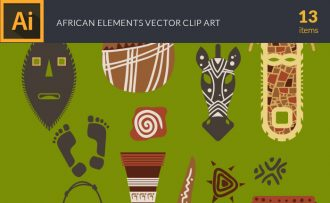 African Elements Vector Pack Vector packs African,Elements,vector,clipart,element,illustration