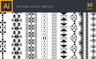Aztec Motifs Vector Pack Vector packs Aztec,Motifs,vector,clipart,element,illustration